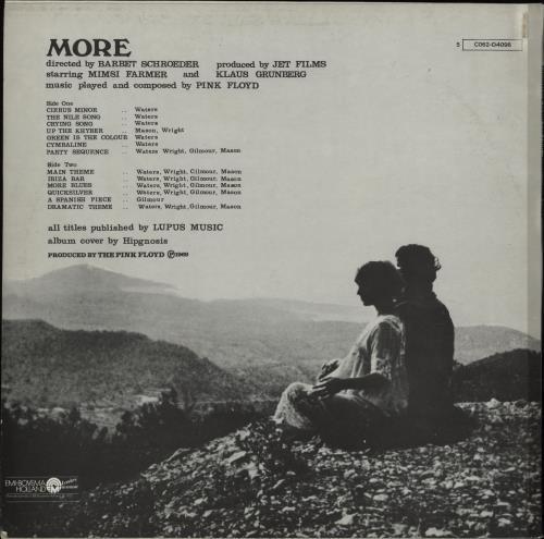 Pink Floyd More vinyl LP album (LP record) Dutch PINLPMO751931