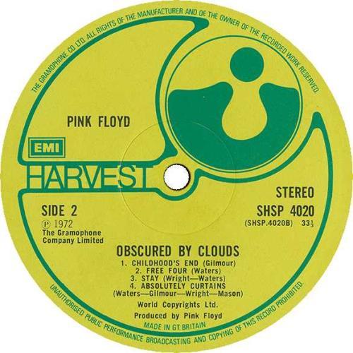 Pink Floyd Obscured By Clouds - 1st (B) - EX vinyl LP album (LP record) UK PINLPOB66675