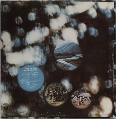 Pink Floyd Obscured By Clouds - Virginia vinyl LP album (LP record) US PINLPOB751947