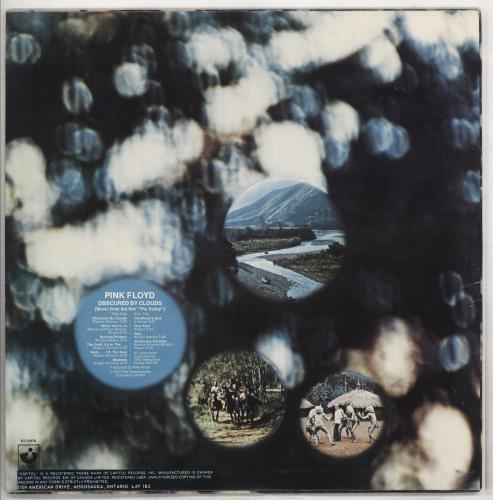 Pink Floyd Obscured By Clouds vinyl LP album (LP record) Canadian PINLPOB738291