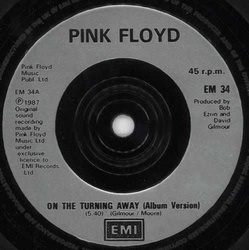 "Pink Floyd On The Turning Away - Black Vinyl - Factory Sample 7"" vinyl single (7 inch record) UK PIN07ON721140"