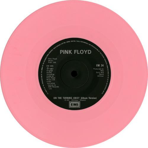 Pink Floyd On The Turning Away - Pink UK 7