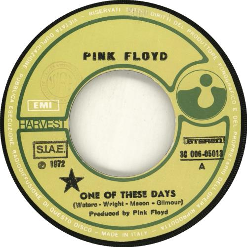 """Pink Floyd One Of These Days - 1st - P/S 7"""" vinyl single (7 inch record) Italian PIN07ON66515"""