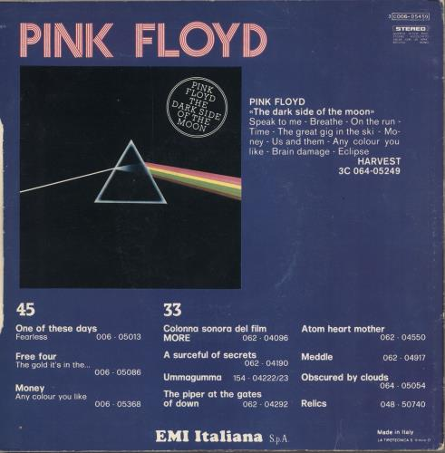 """Pink Floyd Point Me At The Sky - 2nd - P/S - EX 7"""" vinyl single (7 inch record) Italian PIN07PO749938"""