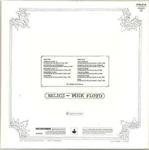 Pink Floyd Relics - 180gram Vinyl - Sealed vinyl LP album (LP record) UK PINLPRE696752
