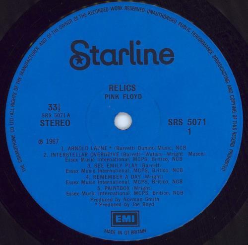 Pink Floyd Relics - 1st - VG vinyl LP album (LP record) UK PINLPRE579521