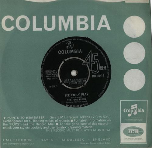 "Pink Floyd See Emily Play - 4PR 7"" vinyl single (7 inch record) UK PIN07SE92130"