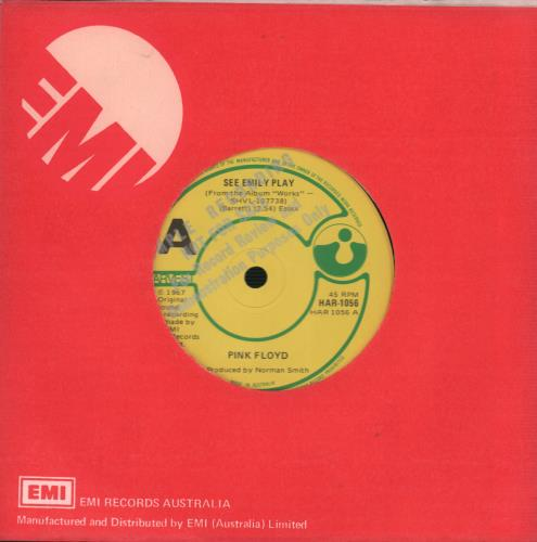 "Pink Floyd See Emily Play 7"" vinyl single (7 inch record) Australian PIN07SE663018"