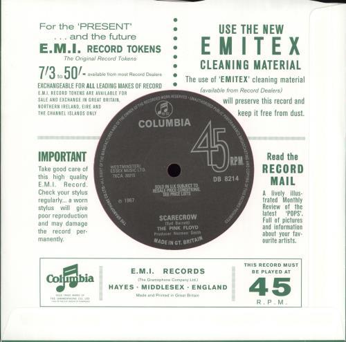 "Pink Floyd See Emily Play 7"" vinyl single (7 inch record) UK PIN07SE716831"