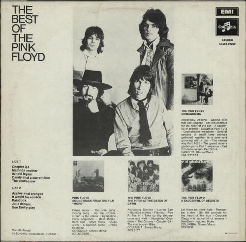 Pink Floyd The Best Of The Pink Floyd - EX vinyl LP album (LP record) Dutch PINLPTH656122
