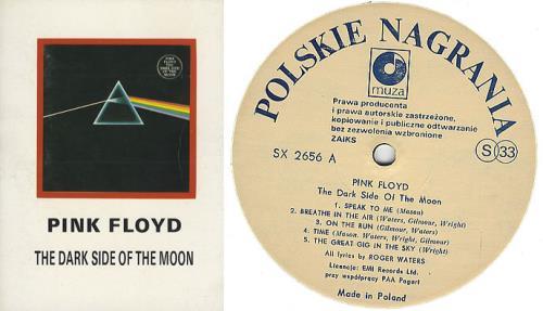 Pink Floyd The Dark Side Of The Moon + Lyric Booklet Polish