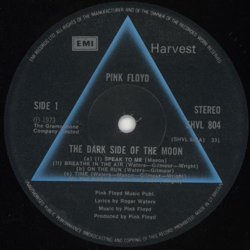 Pink Floyd The Dark Side Of The Moon - 5th - Complete Stickered UK vinyl LP  album (LP record)