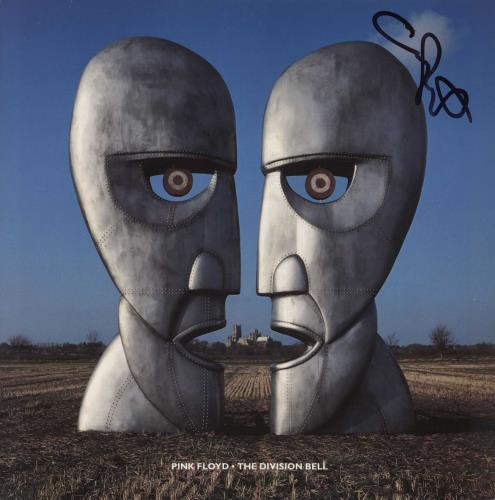 Pink Floyd The Division Bell - Autographed vinyl LP album (LP record) UK PINLPTH721111