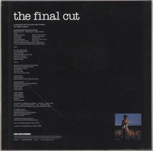 Pink Floyd The Final Cut - 180gram - Sealed vinyl LP album (LP record) UK PINLPTH700343