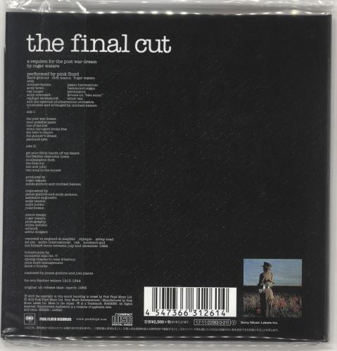 Pink Floyd The Final Cut CD album (CDLP) Japanese PINCDTH706816