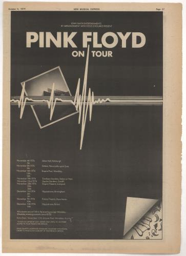 Pink Floyd The Pink Floyd + Ticket + Two Adverts tour programme UK PINTRTH723103