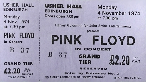Pink Floyd The Pink Floyd - EX + Ticket tour programme UK PINTRTH615494