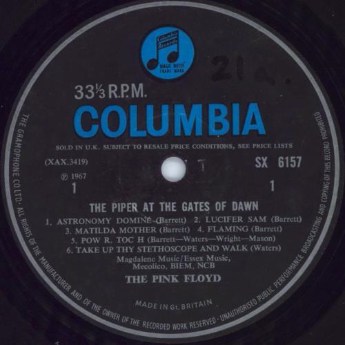 Pink Floyd The Piper At The Gates Of Dawn - 1st (b) - VG vinyl LP album (LP record) UK PINLPTH613140
