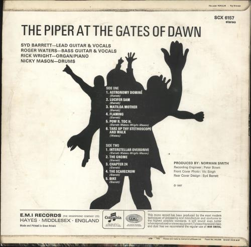 Pink Floyd The Piper At The Gates Of Dawn - 4th - EX vinyl LP album (LP record) UK PINLPTH634436