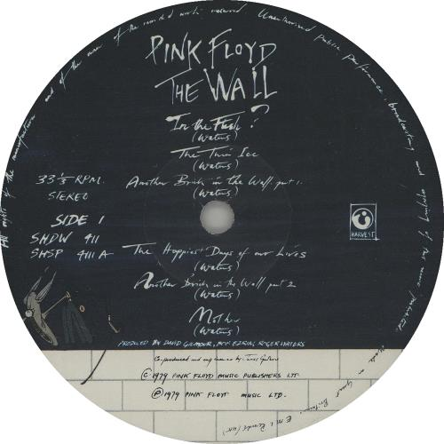 Pink Floyd The Wall - 1st - VG 2-LP vinyl record set (Double Album) UK PIN2LTH646301