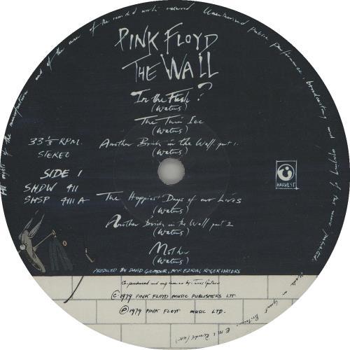 Pink Floyd The Wall - 1st - VG 2-LP vinyl record set (Double Album) UK PIN2LTH646301