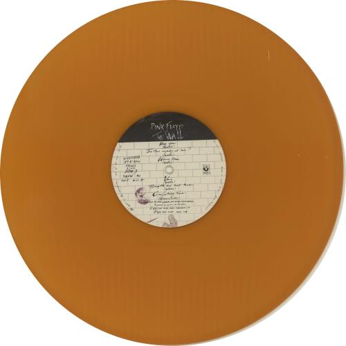 Pink Floyd The Wall - Orange Vinyl 2-LP vinyl record set (Double Album) Italian PIN2LTH307241