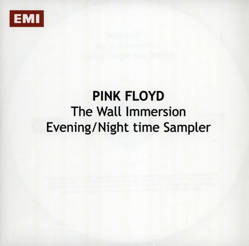 Pink Floyd The Wall Immersion: Evening / Night Time Sampler CD-R acetate UK PINCRTH571917