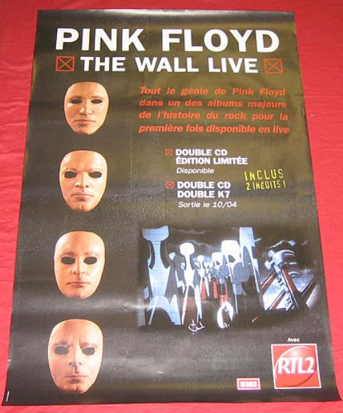 Pink Floyd The Wall Live poster French PINPOTH167388