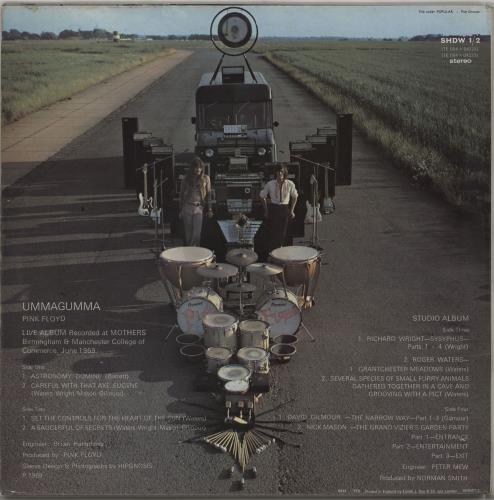 Pink Floyd Ummagumma - 1st - VG/EX 2-LP vinyl record set (Double Album) UK PIN2LUM764506