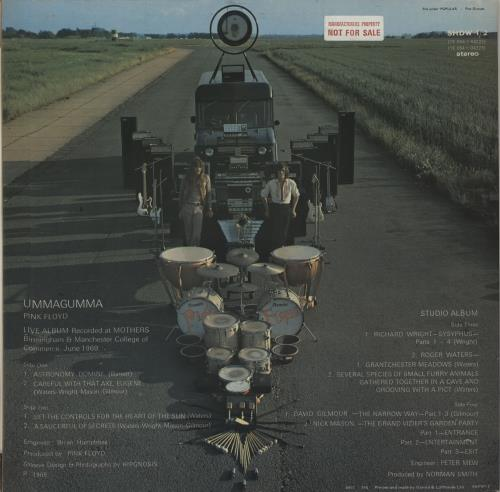 Pink Floyd Ummagumma - 4th Transitional - Sample 2-LP vinyl record set (Double Album) UK PIN2LUM676918