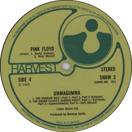 Pink Floyd Ummagumma - Late 1st 2-LP vinyl record set (Double Album) UK PIN2LUM669043