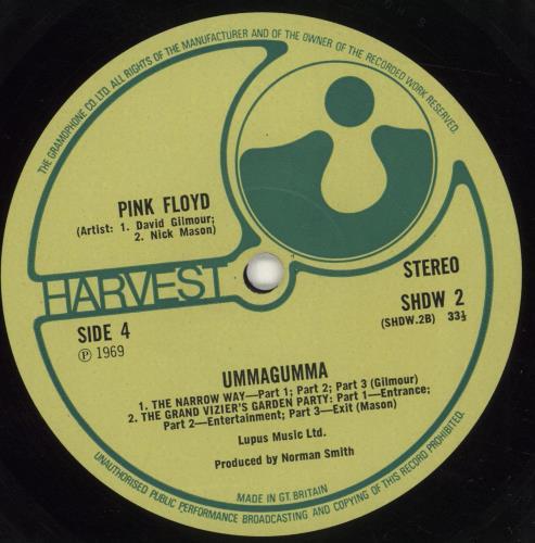 Pink Floyd Ummagumma - Transitional 1st/2nd 2-LP vinyl record set (Double Album) UK PIN2LUM697781