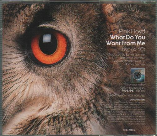 "Pink Floyd What Do You Want From Me - Live CD single (CD5 / 5"") US PINC5WH50152"