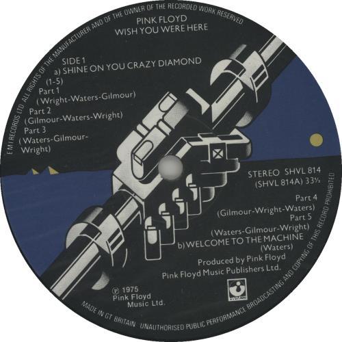 Pink Floyd Wish You Were Here - 1st - Complete vinyl LP album (LP record) UK PINLPWI206736