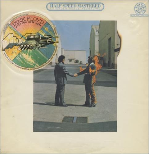 Pink Floyd Wish You Were Here - 1st - stickered vinyl LP album (LP record) US PINLPWI390733