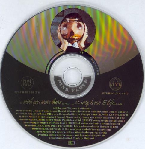 "Pink Floyd Wish You Were Here CD single (CD5 / 5"") Dutch PINC5WI53716"