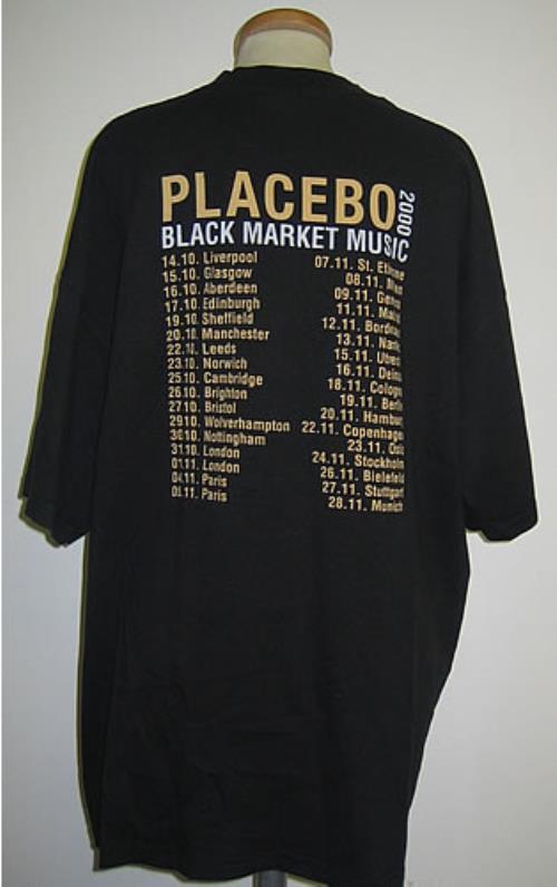 Placebo Black Market Music t-shirt UK CEBTSBL349611