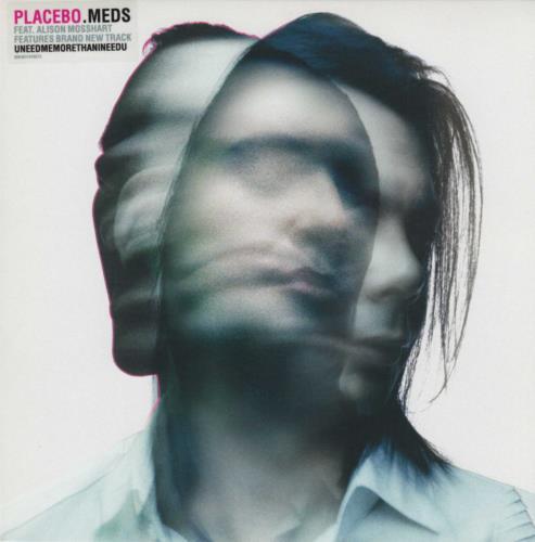 "Placebo Meds 7"" vinyl single (7 inch record) UK CEB07ME375079"