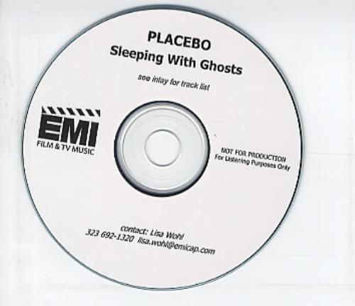 Placebo Sleeping With Ghosts CD-R acetate US CEBCRSL319514