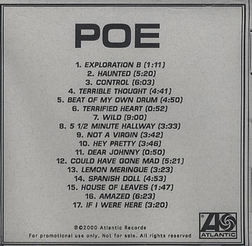 Poe Poe CD-R acetate US POECRPO194557