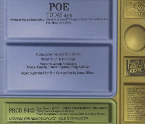 "Poe Today CD single (CD5 / 5"") US POEC5TO199454"