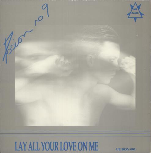 "Poison 9 Lay All Your Love On Me 12"" vinyl single (12 inch record / Maxi-single) UK P-912LA726273"
