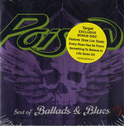 Poison Best Of The Ballads And Blues - Target Stores Exclusive 2 CD album set (Double CD) US POI2CBE543937