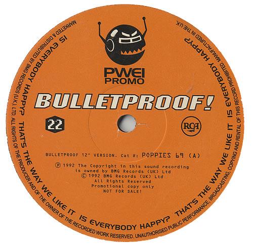 "Pop Will Eat Itself Bulletproof! 12"" vinyl single (12 inch record / Maxi-single) UK PWE12BU437451"