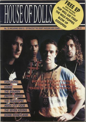 """Pop Will Eat Itself House Of Dolls + 7"""" EP magazine UK PWEMAHO699894"""