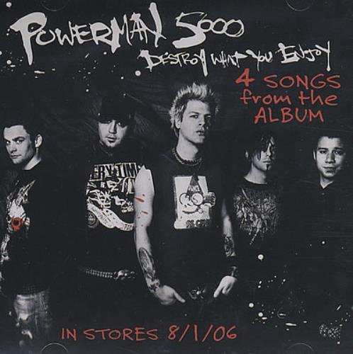 "Powerman 5000 Destroy What You Enjoy - 4 Songs From The Album CD single (CD5 / 5"") US P50C5DE378217"