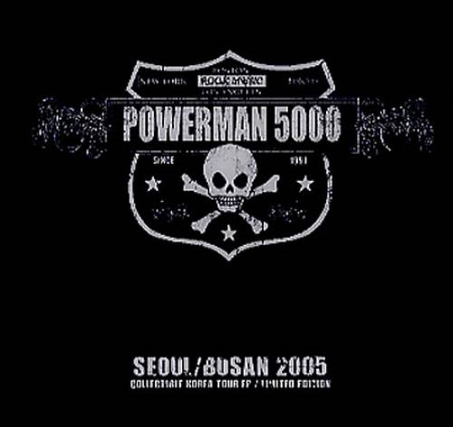 "Powerman 5000 Seoul/Busan 2005 CD single (CD5 / 5"") Korean P50C5SE349581"