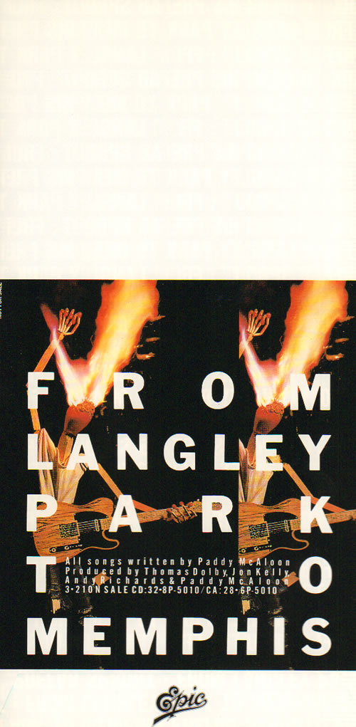 Prefab Sprout Greetings from Langley Park, Newcastle - Three Bags memorabilia Japanese PREMMGR641549