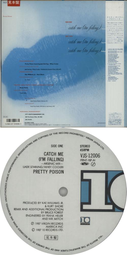"Pretty Poison Catch Me (I'm Falling) 12"" vinyl single (12 inch record / Maxi-single) Japanese PRP12CA623203"