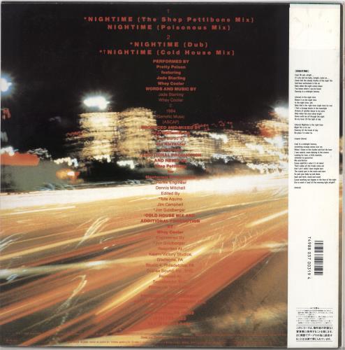"Pretty Poison Nightime - Promo Sample + Obi 12"" vinyl single (12 inch record / Maxi-single) Japanese PRP12NI720800"